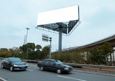 Highways and billboards. In shanghai royalty free stock photography