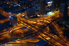 Highways crossing in downtown Dubai, Stock Photo