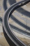 Highways crossing elevated view Royalty Free Stock Image