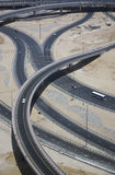 Highways crossing elevated view Royalty Free Stock Images