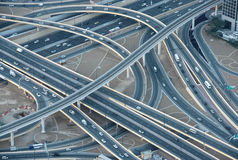 Highways in downtown Dubai Stock Photo