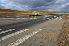 Highways on the grassland. In Inner Mongolia, China royalty free stock photo