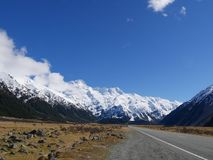 Highways at Mt.Cook Royalty Free Stock Photography