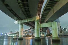 Highways in Tokyo Royalty Free Stock Images