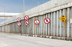 Highways traffic signs Royalty Free Stock Photo