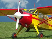 Highwing Airplane Stock Photography