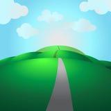 Highwy auf Hügeln lizenzfreie abbildung