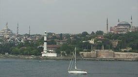 Higia Sophia en Blauwe Moskee Istanboel stock video