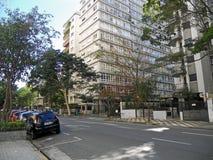 Higienópolis Avenue Royalty Free Stock Images