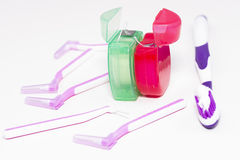 Higiene dental imagem de stock