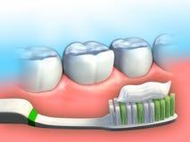 Higiene dental ilustración del vector
