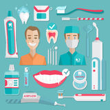 Higiene médica del teeht infographic Foto de archivo libre de regalías