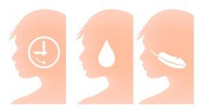 Higiene y anuncio publicitario del cuidado de piel stock de ilustración