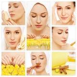 Higiene y cuidado de piel Foto de archivo libre de regalías