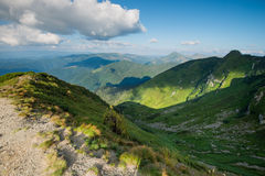 Higland nature Ukraine. Silhouettes mountain, higland nature Ukraine Royalty Free Stock Photo