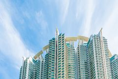Hign density residential building. In Hong Kong Royalty Free Stock Photo