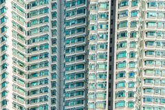 The hign density residential building in hong kong Royalty Free Stock Photography