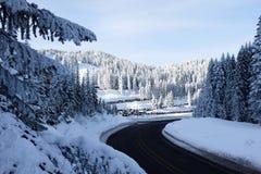 Hignway de winter Stock Foto's