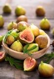 Higos orgánicos frescos Fotografía de archivo libre de regalías