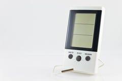 Higrómetro digital blanco Fotografía de archivo
