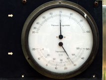 Higrómetro y termómetro Fotos de archivo libres de regalías