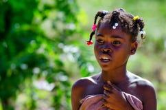 HIGUEY,多米尼加共和国- 2015年10月29日:未认出的多米尼加共和国的女孩 库存图片