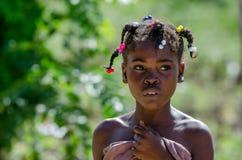 HIGUEY,多米尼加共和国- 2015年10月29日:未认出的多米尼加共和国的女孩 免版税库存图片