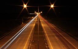 Higway natt Royaltyfri Bild
