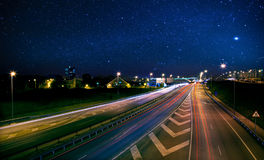 Higway at Night Royalty Free Stock Image