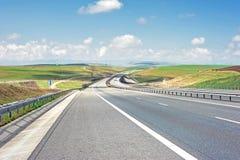 Higyway väg Fotografering för Bildbyråer