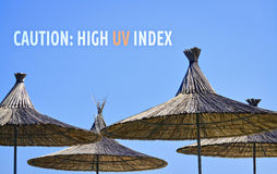 Hihg UV index stock image