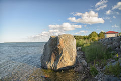 Hiiumaa Baltic sea coastline in summertime stock photography