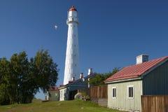 Hiiumaa Tahkuna lighthouse in summertime stock photos