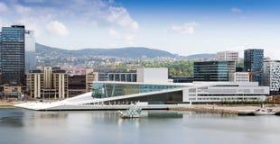 Hij de Operahuis van Oslo is het huis van de Noorse Nationale Opera Stock Afbeelding