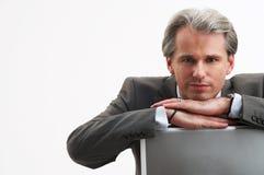 Hij is de werkgever Royalty-vrije Stock Foto's