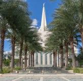 Hij Gilbert Arizona Temple is een tempel van de Kerk van Jesus Christ van de Kerk van laatstgenoemde-Dagheiligen LDS stock foto