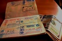 Hij lage kostenluchtvaartlijnen maakt Zuid-Amerika vliegen royalty-vrije stock afbeelding