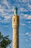 Hij minaret van de Moskee van Heilige Petersburg Stock Afbeelding