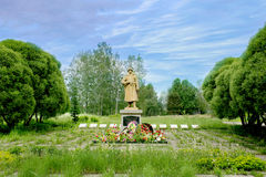 Hij monument aan de Russische militair van de grote Patriottische oorlog Stock Foto's