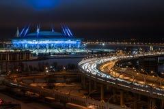 Hij nieuw stadion Stock Foto