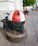 Hij zeemijnen bij de ingang aan de Zeeschool van Nakhimov Royalty-vrije Stock Foto