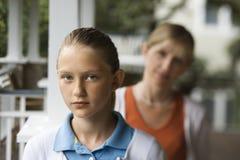 Hija con la madre Imagen de archivo libre de regalías