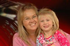 Hija con la mama Imágenes de archivo libres de regalías