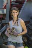 Hija de los granjeros Fotografía de archivo libre de regalías