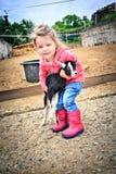 Hija de los granjeros Fotos de archivo libres de regalías
