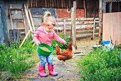 Hija de los granjeros Fotos de archivo