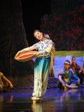 Hija de una luna humilde del ballet de la familia-Hui sobre Helan imagen de archivo