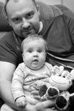 Hija del padre y del bebé Imagen de archivo libre de regalías