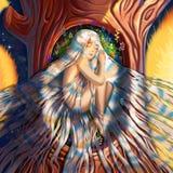 Hija del ` s del árbol, hija del ` s del bosque ilustración del vector