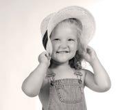 Hija feliz de los granjeros Foto de archivo
